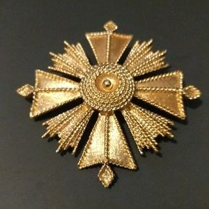 Monet Maltese Cross brooch